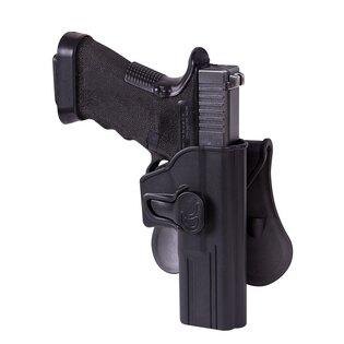 Pištoľové púzdro s poistkou a s pádlom Helikon-Tex® Glock 17 - čierne
