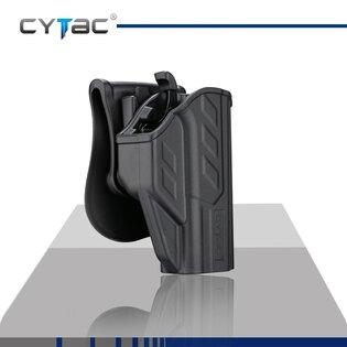Pištoľové puzdro T-ThumbSmart Cytac® CZ P10C + univerzálne puzdro na zásobník Cytac® - čierne