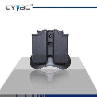 Puzdro na pištoľový zásobník, dvojité Cytac® Glock - čierne