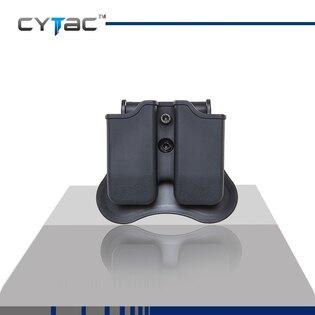Puzdro na pištoľový zásobník, dvojité, univerzálne, Cytac® - čierne