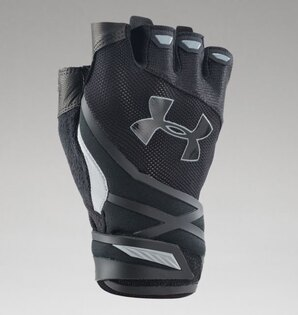 Rukavice UNDER ARMOUR® půlprsté Resistor Heatgear® - černé