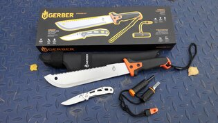 Sada Gerber® Overcome mačeta, nůž, křesadlo