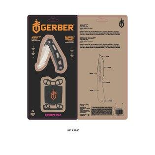 Sada GERBER® peňaženka BARBILL + nôž AIRLIFT - čierna