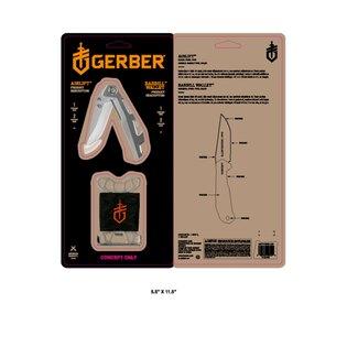 Sada GERBER® peňaženka BARBILL + nôž AIRLIFT - strieborná
