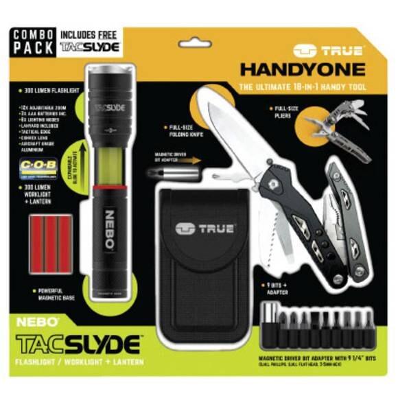 Sada Multitool / svítilna TRUE UTILITY® Handyone / Tac Slyde