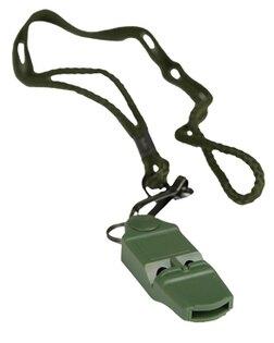 Signální píšťalka Mil-Tec® No Ball - oliv