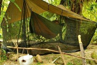 Stanový přístřešek s moskytiérou AMAZONAS® Moskito - Coyote