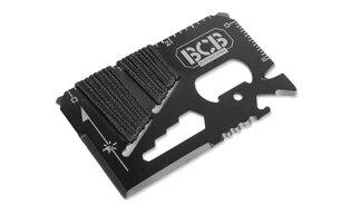 Survival destička na přežití BCB® Pocket Survival Tool - černá