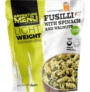 Sušené jídlo Fussili se špenátem a vlašskými ořechy Adventure Menu®