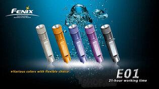 Svítilna E01 Fenix® - černá
