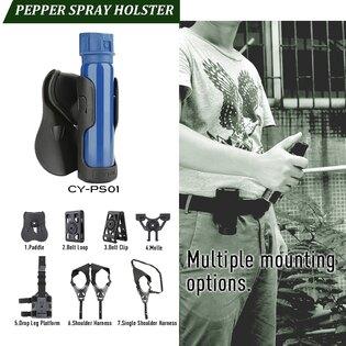Taktické pouzdro na pepřový spray Cytac® 38 mm - černé