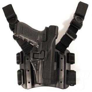 Taktické puzdro stehenné na pištoľ SERPA level 3 BlackHawk® - Glock 17, 19, 22