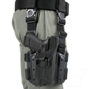 Taktické puzdro stehenné na pištoľ SERPA Level 3 BlackHawk® - pre zbraň so svetelným modulom - Glock 17/19/22
