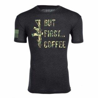 Tričko BRCC® But First Coffee Shirt s potlačou