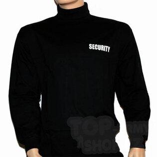 Tričko s dlhým rukávom - rolák SECURITY 101INC® - čierny