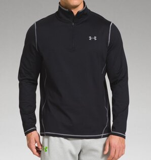 Triko UNDER ARMOUR® ¼ Zip Evo - černé