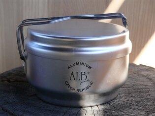 Trojdielny hliníkový kempingový riad - ešus ALB®