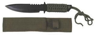 Univerzální nůž s pevnou čepelí MFH® s paracordem