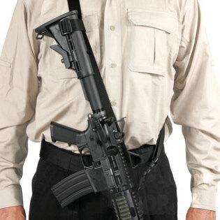 Univerzálny závesný popruh na zbraň BlackHawk® - čierny