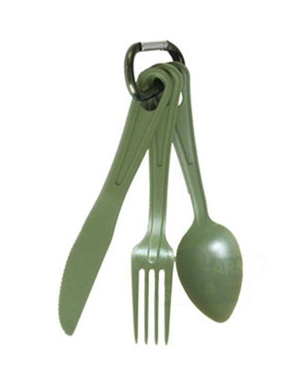 US jídelní příbor LEXAN na karabině Mil-Tec® - oliv