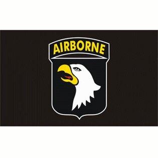 Vlajka AIRBORNE 101E div. - čierna