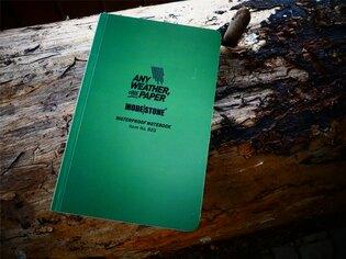 Voděodolný zápisník čtverečkovaný Flexible Field Book 118 mm x 183 mm Modestone®, 64 listů - zelený
