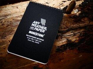 Vodeodolný zápisník štvorčekový The Officer's Pad 96 mm x 148 mm Modestone®, 30 listov