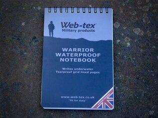 Voděodolný zápisník Warrior Web-Tex