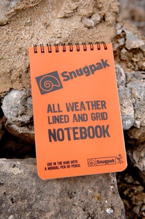 Vodovzdorný poznámkový blok Snugpak® linajkovaný, štvorčekový