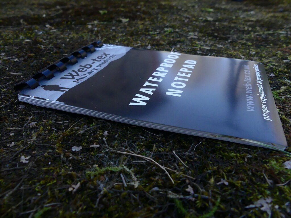 Vodovzdorný zápisník Warrior Web-Tex A6