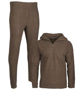 Vojenské termoprádlo fleece Mil-Tec® - zelená-olív