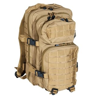 Vojenský batoh US ASSAULT PACK small Mil-Tec® - coyote