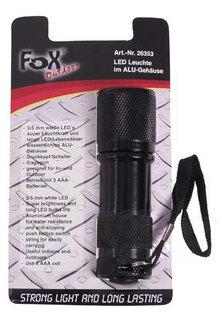Vreckové LED svietidlo sa remienkom FOX OUTDOOR® - čierne