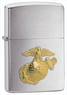 Zapalovač ZIPPO® Brush Finish Marines