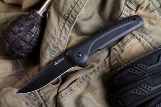 Zatvárací nôž Kizlyar SUPREME® Biker Z D2 Titanium - čierny