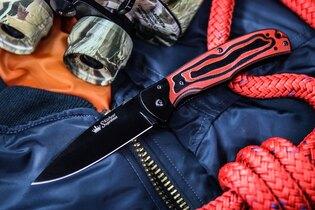 Zatvárací nôž Kizlyar SUPREME® Prime D2 - červený