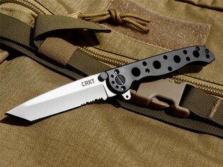 Zatvárací nôž M16-10S CRKT® kombinované ostrie - čierny