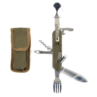 Zatvárací nôž, multifunkčný príbor FOSCO® so svetlom