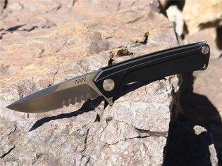 Zavírací nůž ANV® Z100 s kombinovaným ostřím Dural Frame Lock