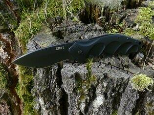 Zavírací nůž Foresight™ CRKT® kombinované ostří - černý