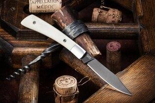 Zavírací nůž KIZLYAR SUPREME® Gent 440C Bone - leštěný-bílý