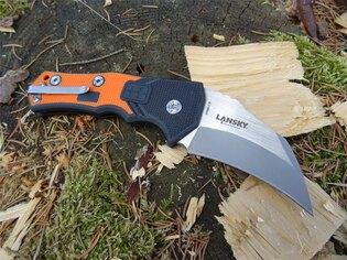 Zavírací nůž Lansky® Madrock World Legal Knife - oranžový