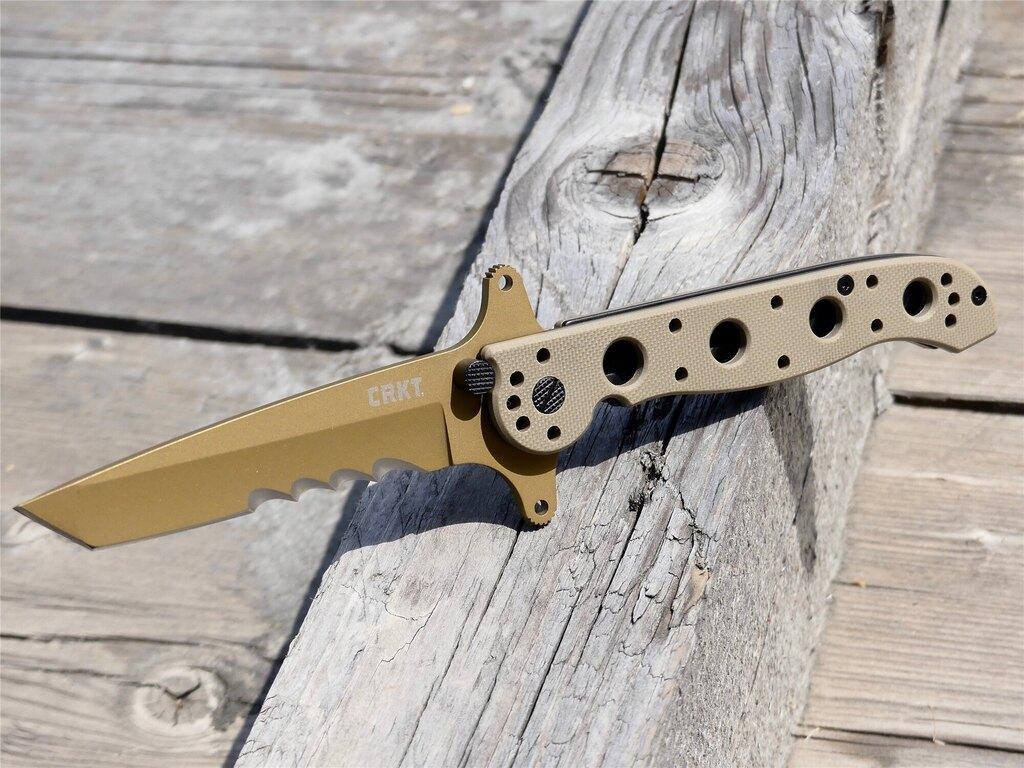 Zavírací nůž M16-13DSFG Special Forces™ CRKT® kombinované ostří - Coyote