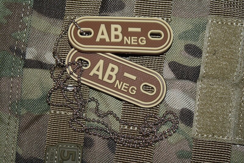 Známka TG krvná skupina AB negatívne